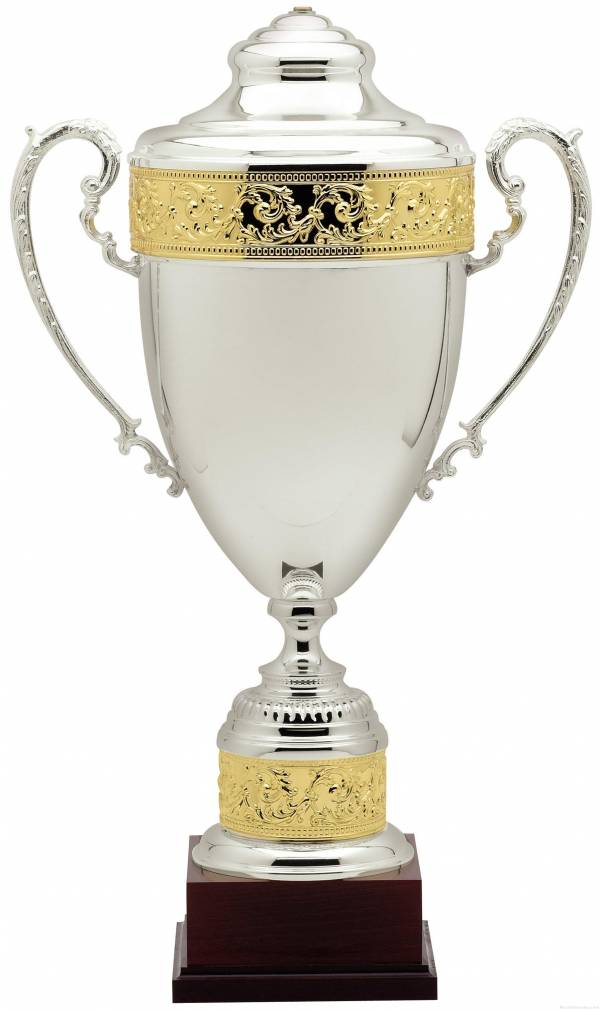 Gold Trimmed Silver Trophy Cup