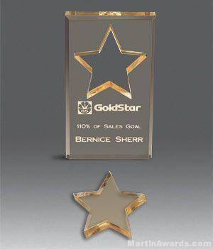 Star Shape Cutout Acrylic Award