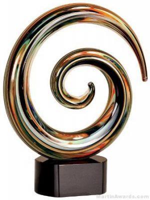 9 1/4 inch Swirl Art Glass