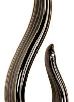 13 1/4 inch Black/Gold Curve Art Glass