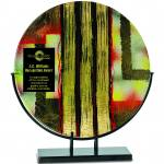 Premier Art Glass Plate Plaque