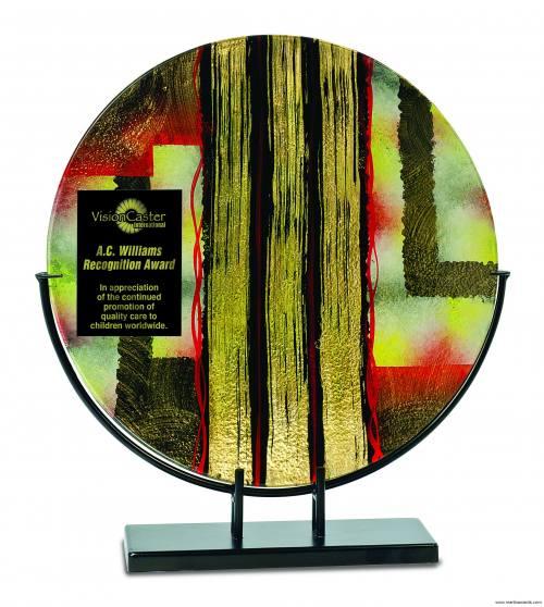 Premier Art Glass Plate Plaque