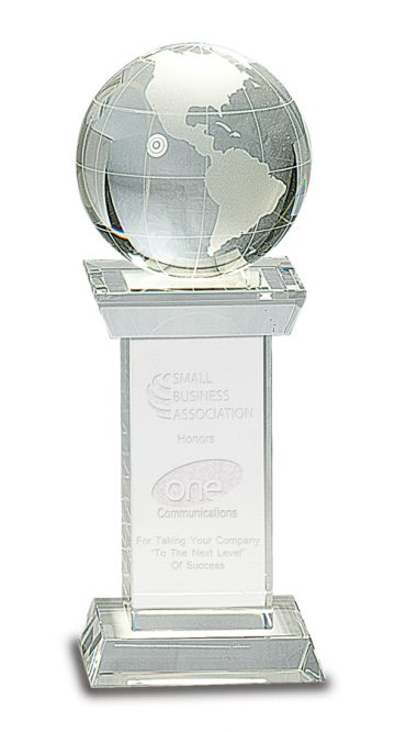 Crystal Globe on Clear Tower