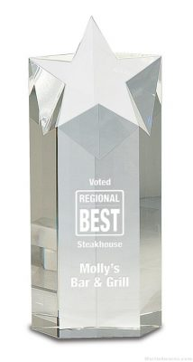 Crystal Star Column Sales Award