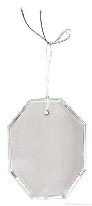 3 1/2 inch Crystal Octagon Ornament