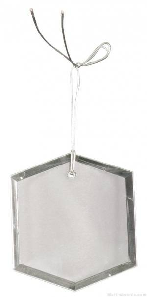 3 inch Crystal Hexagon Ornament