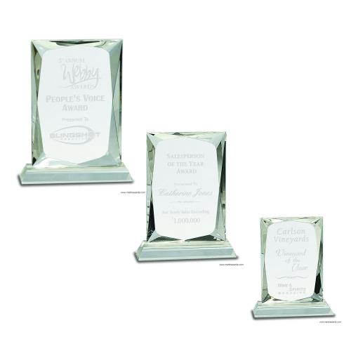Crystal Rectangle Award on Clear BaseCrystal Rectangle Award on Clear Base
