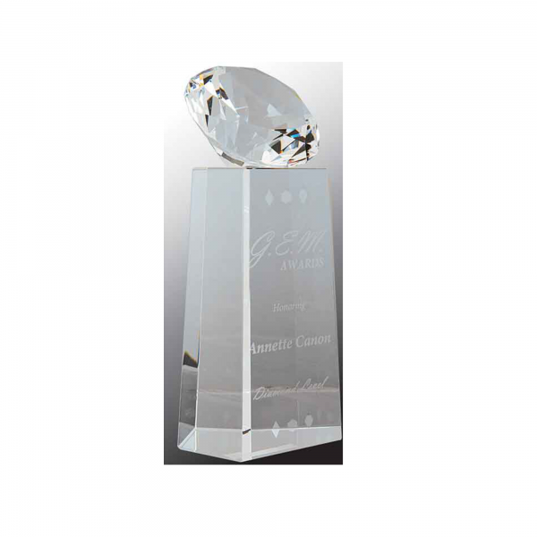 Diamond on top crystal award