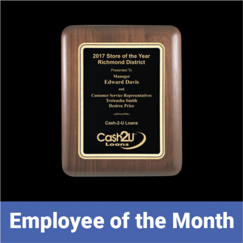 Employee of the Month Recognition Awards