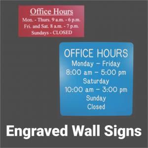 Engraved Wall Signs