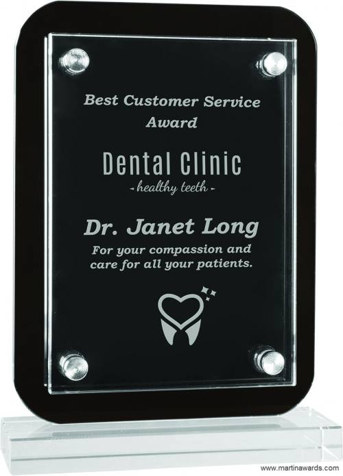 Floating Glass Stand-up Plaques