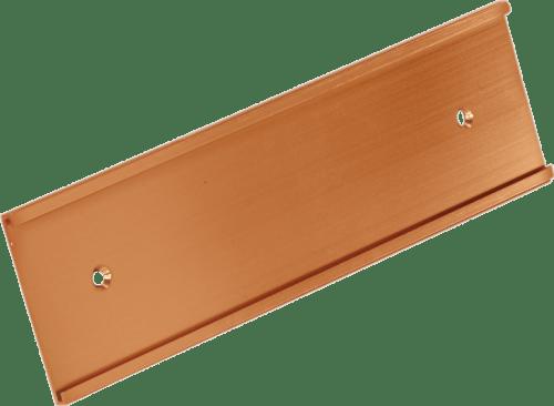 Gold 2 inch aluminum wall bracket