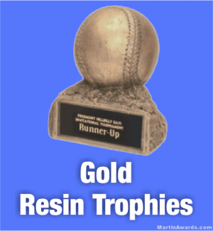 Gold Resin Trophies