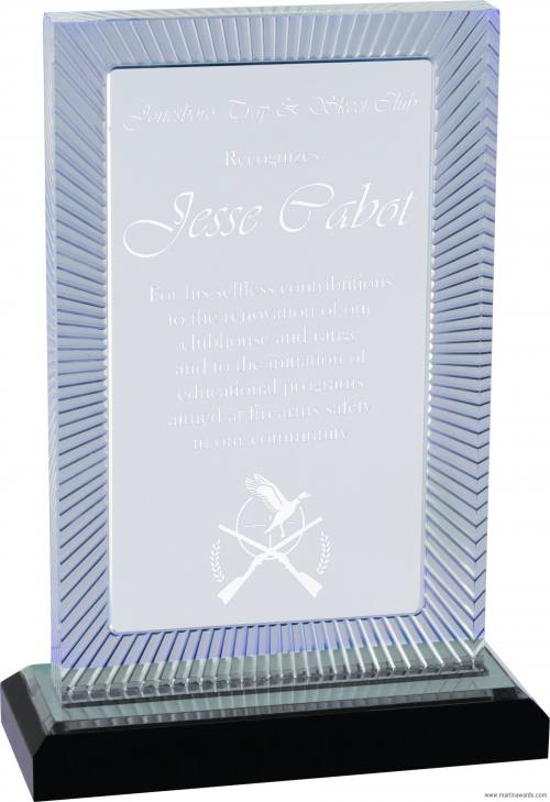 SILVER Carved Rectangle Impress Acrylic