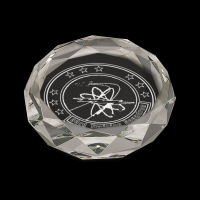 "4"" x 2 3/4"" Clear Oval Crystal Paperweight"