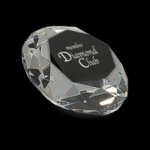 "2 1/2"" Clear Crystal Diamond (4"" Diameter)"