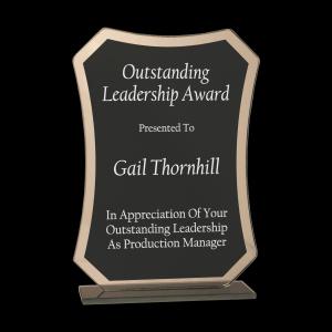 Black Rectangle Reflection Glass Award