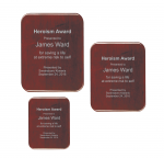 Rosewood High Gloss Color-fill Plaque - Round Corners