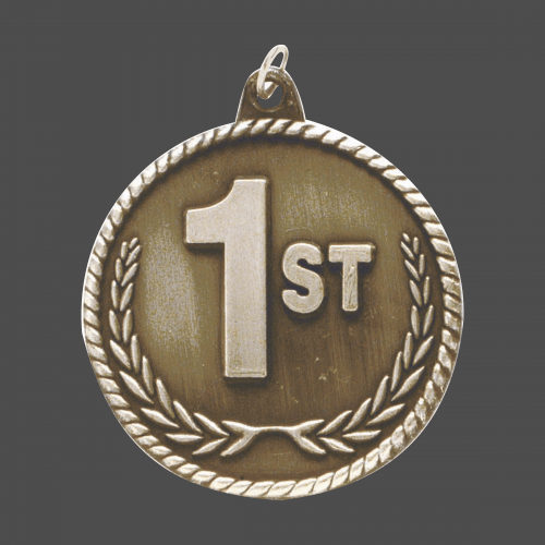 """2"""" Gold 1st Place High Relief Medal"""