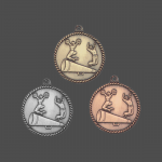 """2"""" Cheer High Relief Medal"""