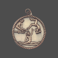 "2"" Female Gymnastics High Relief Medal"