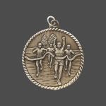"""2"""" Cross Country High Relief Medal"""
