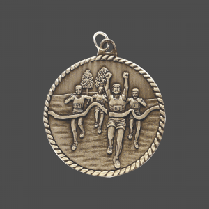 "2"" Cross Country High Relief Medal"