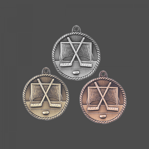 """2"""" Hockey High Relief Medal"""