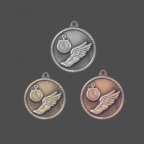 """2"""" Track High Relief Medal"""