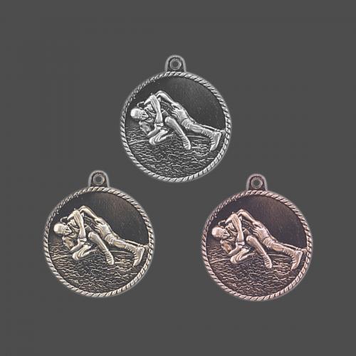 """2"""" Wrestling High Relief Medal"""