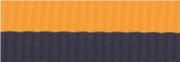 "7/8"" Navy Blue/Gold Neck Ribbon with Snap Clip"