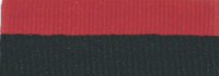 "7/8"" Black/Red Neck Ribbon with Snap Clip"