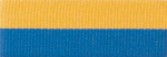 "7/8"" Blue/Gold Neck Ribbon with Snap Clip"