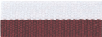 "7/8"" Maroon/White Neck Ribbon with Snap Clip"