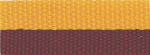 "7/8"" Maroon/Gold Neck Ribbon with Snap Clip"