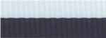 "7/8"" Navy Blue/White Neck Ribbon with Snap Clip"