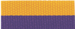 "7/8"" Purple/Gold Neck Ribbon with Snap Clip"