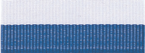 "7/8"" Blue/White Neck Ribbon with Snap Clip"