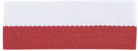 "7/8"" Red/White Neck Ribbon with Snap Clip"