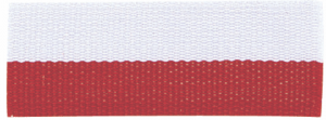 """7/8"""" Red/White Neck Ribbon with Snap Clip"""