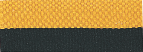 """1 1/2"""" Black/Gold Neck Ribbon with Snap Clip"""