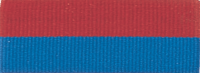 "1 1/2"" Red/Blue Neck Ribbon with Snap Clip"