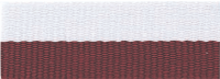 "1 1/2"" Maroon/White Neck Ribbon with Snap Clip"
