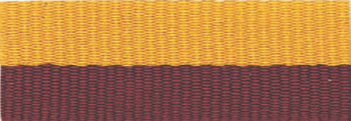 """1 1/2"""" Maroon/Gold Neck Ribbon with Snap Clip"""