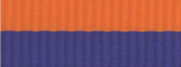 "1 1/2"" Blue/Orange Neck Ribbon with Snap Clip"