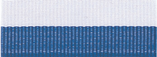 """1 1/2"""" Blue/White Neck Ribbon with Snap Clip"""