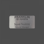 "1 1/2"" x 3"" Stainless Steel Lifetime Badge"