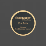 """4"""" Round Black Brass Metal Name Tag with Gold Border"""