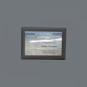 "5"" x 7"" Solid Black Finish Plaque with Full color Plate"