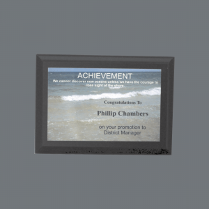 "8"" x 10"" Solid Black Finish Plaque with Full color Plate"